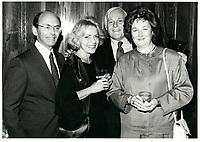 Leo Kolber (G)<br /> au Festival des Films du Monde 1985<br /> <br /> <br /> PHOTO : Agence Quebec Presse