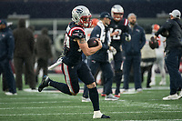 FOXBOROUGH, MA - OCTOBER 27: New England Patriots Wide Receiver Gunner Olszewski #80 during a game between Cleveland Browns and New Enlgand Patriots at Gillettes on October 27, 2019 in Foxborough, Massachusetts.
