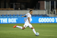 SAN JOSE, CA - OCTOBER 03: Rolf Feltscher #25 of the Los Angeles Galaxy during a game between Los Angeles Galaxy and San Jose Earthquakes at Earthquakes Stadium on October 03, 2020 in San Jose, California.