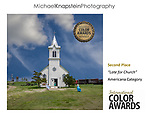 "Michael Knapstein won 2nd Place in the ""Americana"" category of the International Color Awards for his photograph ""Late for Church"" taken in rural South Dakota, USA."