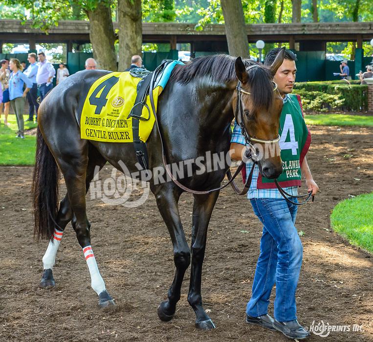 Gentle Ruler beforeThe Robert G. Dick Memorial Stakes at Delaware Park on 7/6/19