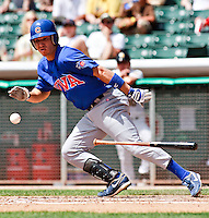 May 19, 2009:  Nate Spears of the Iowa Cubs, Pacific Cost League Triple A affiliate of the Chicago Cubs, during a game at the Spring Mobile Ballpark in Salt Lake City, UT.  Photo by:  Matthew Sauk/Four Seam Images