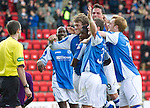 St Johnstone v St Mirren....06.10.12      SPL.Murray Davidson celebrates his goal.Picture by Graeme Hart..Copyright Perthshire Picture Agency.Tel: 01738 623350  Mobile: 07990 594431