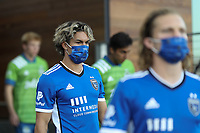 SAN JOSE, CA - MAY 12: Cade Cowell #44 of the San Jose Earthquakes before a game between Seattle Sounders FC and San Jose Earthquakes at PayPal Park on May 12, 2021 in San Jose, California.