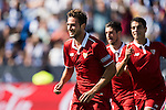 Franco Vazquez of Sevilla FC celebrates during their La Liga match between Deportivo Leganes and Sevilla FC at the Butarque Municipal Stadium on 15 October 2016 in Madrid, Spain. Photo by Diego Gonzalez Souto / Power Sport Images