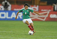 Liliana Mercado (6) of Mexico. The USWNT defeated Mexico 7-0 during an international friendly, at RFK Stadium, Tuesday September 3 , 2013.