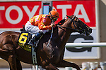 JUL 20,2014:Tom's Tribute,ridden by Mike Smith,wins the Eddie Read Stakes at Del Mar in Del Mar,CA. Kazushi Ishida/ESW/CSM