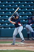Bowling Green Hot Rods designated hitter Jacson McGowan (34) at bat against the Winston-Salem Dash at Truist Stadium on September 7, 2021 in Winston-Salem, North Carolina. (Brian Westerholt/Four Seam Images)