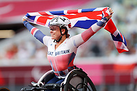 29th August 2021; Tokyo, Japan; Hannah Cockroft (GBR), <br /> Athletics : Women's 100m T34 Final <br /> during the Tokyo 2020 Paralympic Games at the National Stadium in Tokyo, Japan