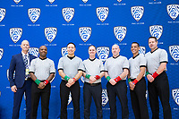 STANFORD, CA - March 7, 2020: Tournament Officials during the 2020 Pac-12 Wrestling Championships at Maples Pavilion.