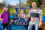 Enjoying the Tralee Town park playground on Tuesday, l to r: Jana Placerova, Fiadh McEgan, Lauren and Noel Connaire.