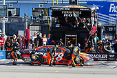 2017 Monster Energy NASCAR Cup Series - Kobalt 400<br /> Las Vegas Motor Speedway - Las Vegas, NV USA<br /> Sunday 12 March 2017<br /> Martin Truex Jr, Bass Pro Shops/TRACKER BOATS Toyota Camry pit stop<br /> World Copyright: Russell LaBounty/LAT Images<br /> ref: Digital Image 17LAS1rl_5616