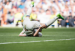 Gareth Bale of Real Madrid lies on the pitch during their La Liga match between Real Madrid and Deportivo Alaves at the Santiago Bernabeu Stadium on 02 April 2017 in Madrid, Spain. Photo by Diego Gonzalez Souto / Power Sport Images