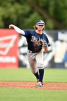 Brendan Rodgers (22) of Lake Mary High School in Longwood, Florida playing for the Tampa Bay Rays scout team during the East Coast Pro Showcase on July 31, 2014 at NBT Bank Stadium in Syracuse, New York.  (Mike Janes/Four Seam Images)
