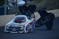 Jul, 20, 2012; Morrison, CO, USA: NHRA funny car driver Tony Pedregon during qualifying for the Mile High Nationals at Bandimere Speedway. Mandatory Credit: Mark J. Rebilas-