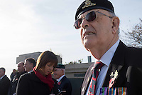 Pictured: An ex serviceman at the service Friday 11 November 2016<br /> Re: Remembrance Day service at the Cenotaph in Swansea, south Wales, UK.