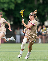 NEWTON, MA - MAY 22: Cara Urbank #26 of Boston College brings the ball forward during NCAA Division I Women's Lacrosse Tournament quarterfinal round game between Notre Dame and Boston College at Newton Campus Lacrosse Field on May 22, 2021 in Newton, Massachusetts.