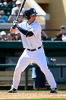 Detroit Tigers outfielder Jeff McVaney #17 during a Spring Training game against the Tampa Bay Rays at Joker Marchant Stadium on March 29, 2013 in Lakeland, Florida.  (Mike Janes/Four Seam Images)