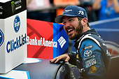 Monster Energy NASCAR Cup Series<br /> Bank of America 500<br /> Charlotte Motor Speedway, Concord, NC USA<br /> Sunday 8 October 2017<br /> Martin Truex Jr, Furniture Row Racing, Auto-Owners Insurance Toyota Camry celebrates his win<br /> World Copyright: Nigel Kinrade<br /> LAT Images