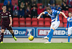 St Johnstone v Hearts…10.08.16..  McDiarmid Park…BetFred Cup<br />Liam Craig has a shot at goal<br />Picture by Graeme Hart.<br />Copyright Perthshire Picture Agency<br />Tel: 01738 623350  Mobile: 07990 594431