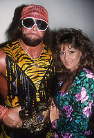 """Randy """"Macho Man"""" Savage and his manager Miss Elizabeth 1991<br /> Photo By Adam Scull/PHOTOlink.net"""
