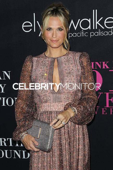 SANTA MONICA, CA, USA - OCTOBER 18: Molly Sims arrives at Elyse Walker's 10th Annual Pink Party held at Santa Monica Airport HANGAR:8 on October 18, 2014 in Santa Monica, California, United States. (Photo by Celebrity Monitor)