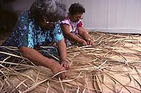 Kupuna weave lauhala sails for Polynesian voyaging canoe, Hawai'iloa.