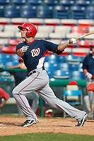 Washington Nationals minor league third baseman Steven Souza (2) during a game vs. the Chinese National Team in an Instructional League game at Holman Stadium in Vero Beach, Florida September 30, 2010.   Photo By Mike Janes/Four Seam Images