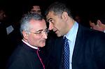 ALFONSO PECORARO SCANIO CON IL PARROCO DI SANTA MARIA DEGLI ANGELI ROMA 2007