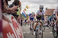 World Champion Alejandro Valverde (ESP/Movistar) up the infamous Mur de Huy<br /> <br /> 83rd La Flèche Wallonne 2019 (1.UWT)<br /> One day race from Ans to Mur de Huy (BEL/195km)<br /> <br /> ©kramon