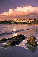 Mauna Kea beach hotel on Kaunaoa Bay, Kohala coast, Big island of Hawaii