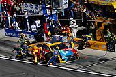 2017 NASCAR Cup - Daytona 500<br /> Daytona International Speedway, Daytona, FL USA<br /> Sunday 26 February 2017<br /> Kyle Busch, M&M's Toyota Camry, pit stop<br /> World Copyright: Michael L. Levitt/LAT Images<br /> ref: Digital Image levitt-0217-D500_46634
