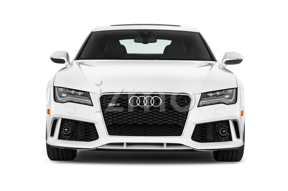 Car photography straight front view of a 2015 Audi RS7  quattro tiptronic Prestige 5 Door Hatchback