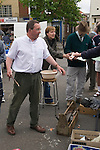 Boston Lincolnshire. Weekly auction in car park. General household stuff. 2008 2008 2000s UK