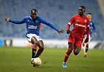 25.02.2021 Rangers v Royal Antwerp: Glen Kamara and Martin Hongla