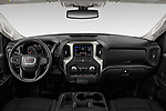 Stock photo of straight dashboard view of 2020 GMC Sierra-2500HD - 4 Door Pick-up Dashboard