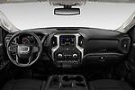 Stock photo of straight dashboard view of 2020 GMC Sierra-2500HD - 4 Door Pick-up Dashboard