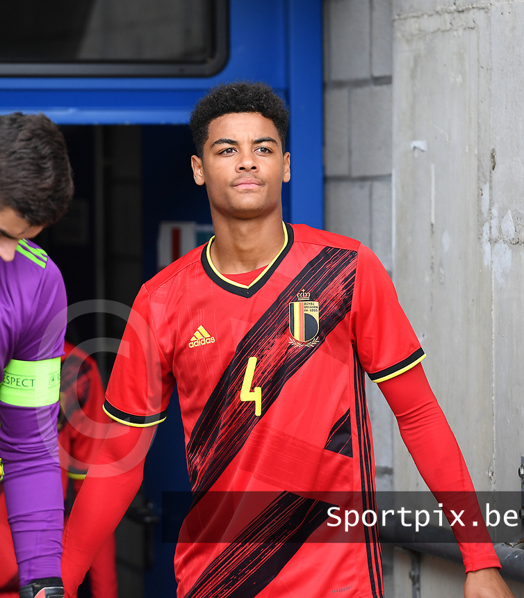 Belgian Koni De Winter pictured during a friendly soccer game between the national teams Under19 Youth teams of Belgium and Germany on tuesday 8 th of September 2020  in Genk , Belgium . PHOTO SPORTPIX.BE | SPP | DAVID CATRY