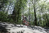 Fabio Sylvestre (POR/Trek Factory Racing) up Monte Ologno (1168m)<br /> <br /> Giro d'Italia 2015<br /> stage 18: Melide (SUI) - Verbania (170km)