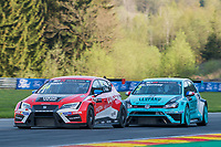 #54 Team Craft-Bamboo (HKG). LUKOIL SEAT Leon TCR. James Nash (GBR). in front of #2 Leopard Racing (LUX). Volkswagen Golf Gti TCR. Jean-Karl Vernay (FRA). TCR Race 1 as part of the WEC 6 Hours of Spa-Francorchamps 2016 at Circuit Spa-Francorchamps, Stavelot, Spa-Francorchamps, Belgium . May 06 2016. World Copyright Peter Taylor/PSP.