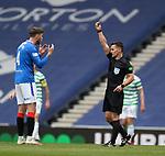 02.05.2021 Rangers v Celtic: Jack Simpson booked