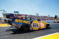Apr 14, 2019; Baytown, TX, USA; NHRA funny car driver Ron Capps during the Springnationals at Houston Raceway Park. Mandatory Credit: Mark J. Rebilas-USA TODAY Sports