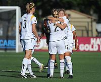 Allison Falk (3), Johanna Frisk (21) Lisa Sari (12). The Los Angeles Sol defeated FC Gold Pride, 2-0, at Buck Shaw Stadium in Santa Clara, CA on May 24, 2009.