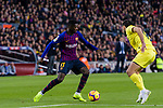 Ousmane Dembele of FC Barcelona (L) in action during the La Liga 2018-19 match between FC Barcelona and Villarreal at Camp Nou on 02 December 2018 in Barcelona, Spain. Photo by Vicens Gimenez / Power Sport Images