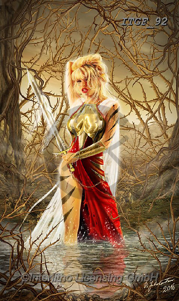 Gaetano, MODERN, MODERNO, paintings+++++The Swamp Of Thorns,ITGF92,#n#, EVERYDAY ,fantasy,puzzles,gothic,pin-up,pin-ups
