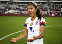 JACKSONVILLE, FL - NOVEMBER 10: Margaret Purce #30 of the United States celebrate their victory during a game between Costa Rica and USWNT at TIAA Bank Field on November 10, 2019 in Jacksonville, Florida.
