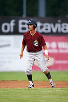 Mahoning Valley Scrappers second baseman Mark Mathias (29) leads off second during a game against the Batavia Muckdogs on June 22, 2015 at Dwyer Stadium in Batavia, New York.  Mahoning Valley defeated Batavia 15-11.  (Mike Janes/Four Seam Images)