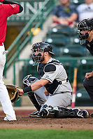 Dayton Dragons catcher Matheu Nelson (31) during a game against the Fort Wayne TinCaps on August 25, 2021 at Parkview Field in Fort Wayne, Indiana.  (Mike Janes/Four Seam Images)