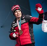 Alana Ramsay, PyeongChang 2018 - Para Alpine Skiing // Ski para-alpin.<br /> Alana Ramsay collects her bronze medal in the women's standing super-G // Alana Ramsay remporte sa médaille de bronze en super-G debout féminin. 11/03/2018.