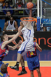 Real Madrid's Sergio LLull (r) and FC Barcelona's Fran Vazquez during ACB Supercup Semifinal match.September 24,2010. (ALTERPHOTOS/Acero)